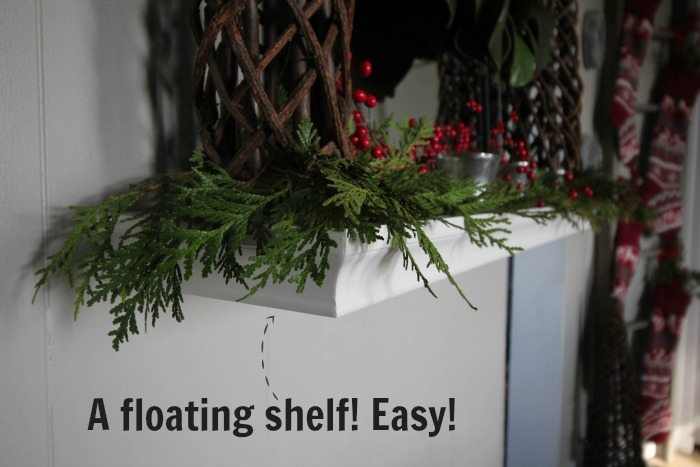 "How to decorate for Christmas when you don't have a mantel in your home! Create a ""fantel"""