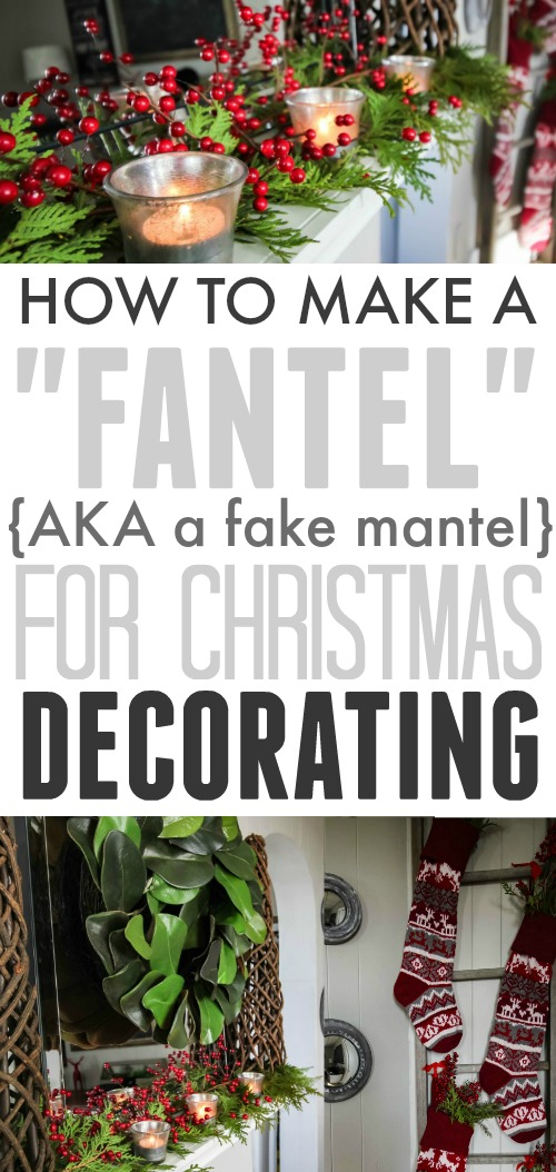 How to decorate for Christmas when you don't have a fireplace or mantel!