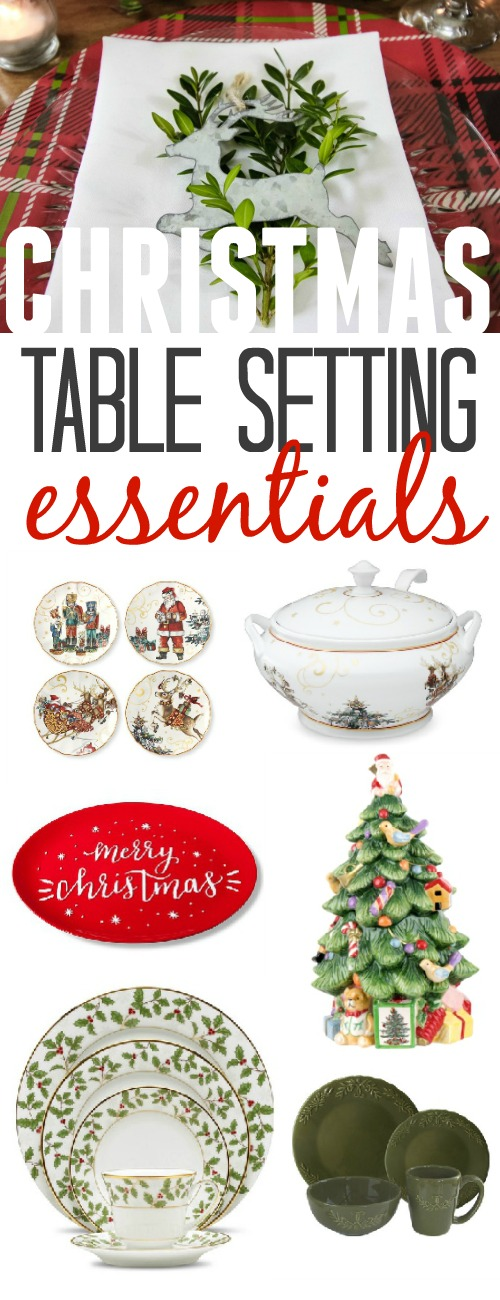 Christmas table setting essentials for setting a festive table the simple way!