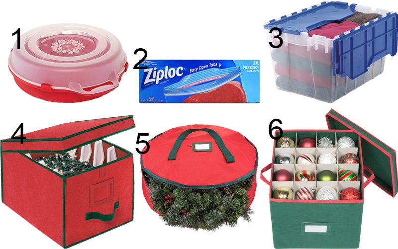 Christmas organizing ideas to help you deal with all of the stuff of Christmas: Gifts, decorations, extra food, wrapping supplies, outfits, and everything else!