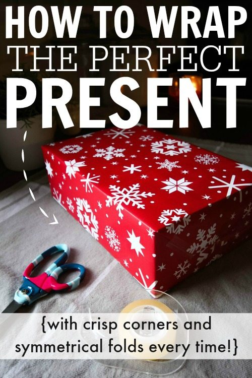 how to perfectly wrap christmas presents with crisp corners and smooth edges for those times when
