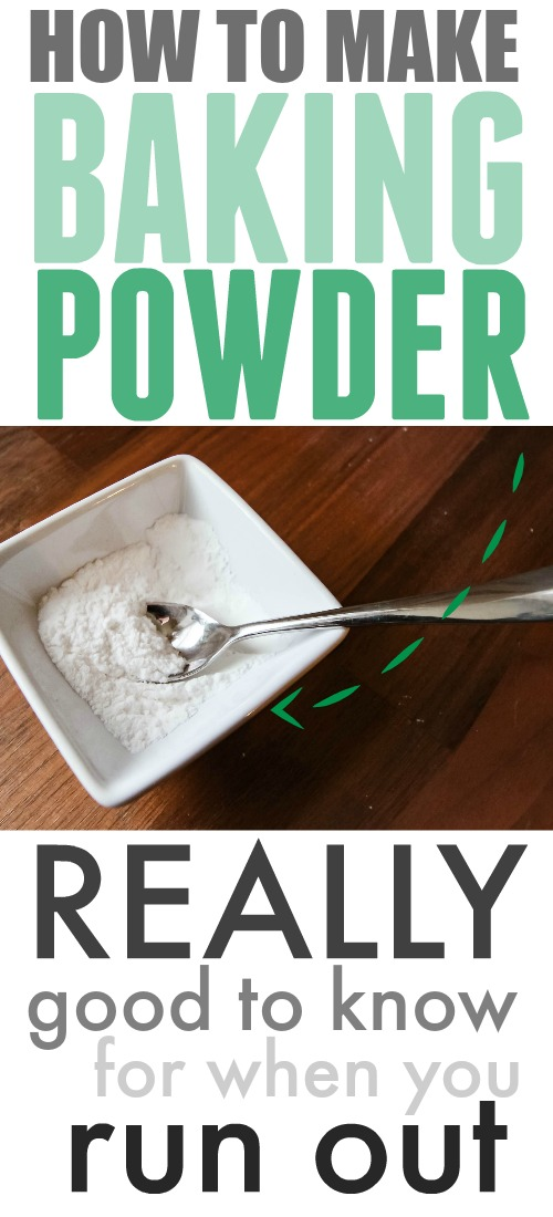Here's how to make baking powder at home! You now have one less thing to worry about running out of with this quick and easy solution.
