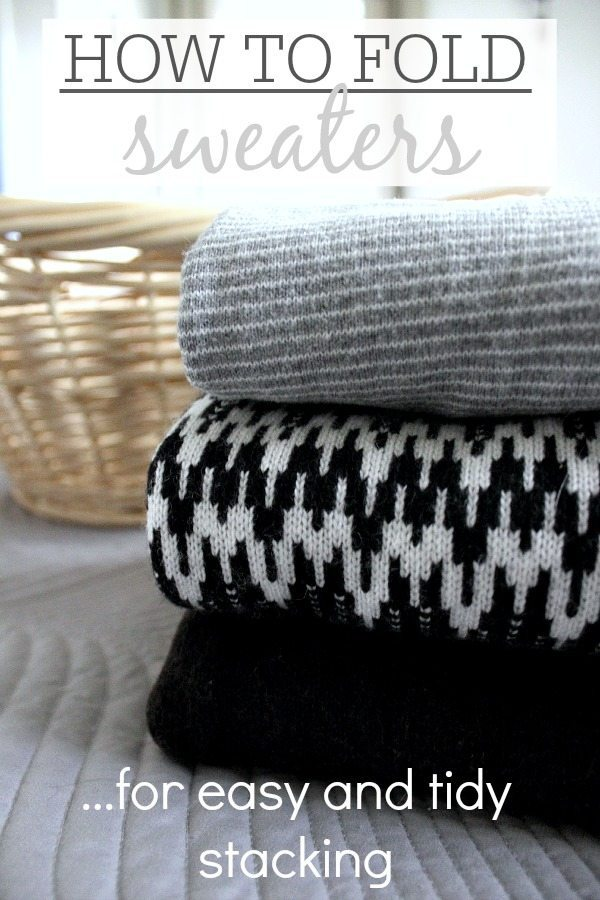 Folding Hacks - Sweater folding tricks for easy and tidy stacking from The Creek Line House