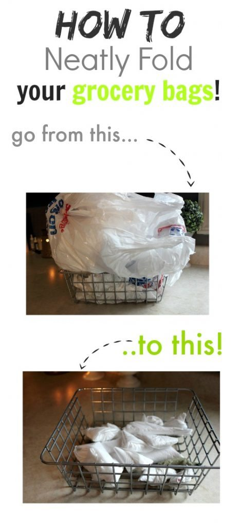 Folding Hacks - How to fold Grocery Bags from The Creek Line House