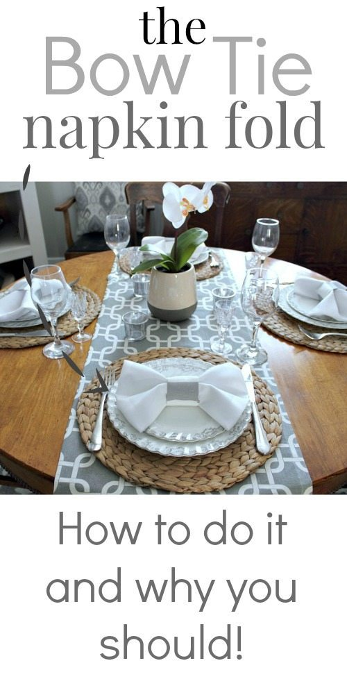 Folding Hacks - How to do The Bow Tie Napkin Fold from The Creek Line House
