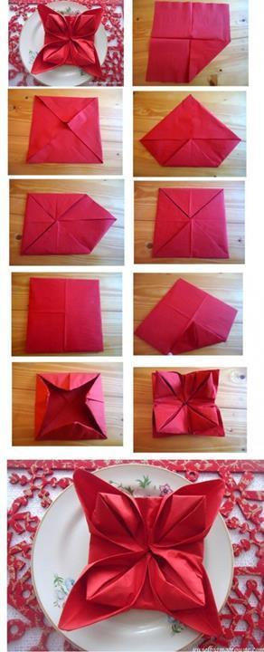 Folding Hacks - How to do a 3D Napkin Fold from Just Imagine