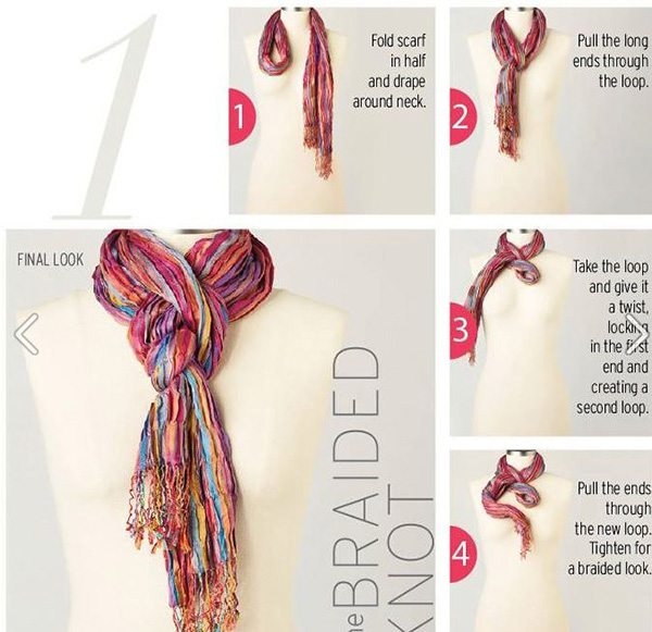 Folding Hacks - How to fold a Scarf 10 Stylish Ways from Life As A Mama