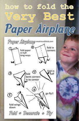 Folding Hacks - How to fold the best Paper Airplane from Bounce Back Parenting