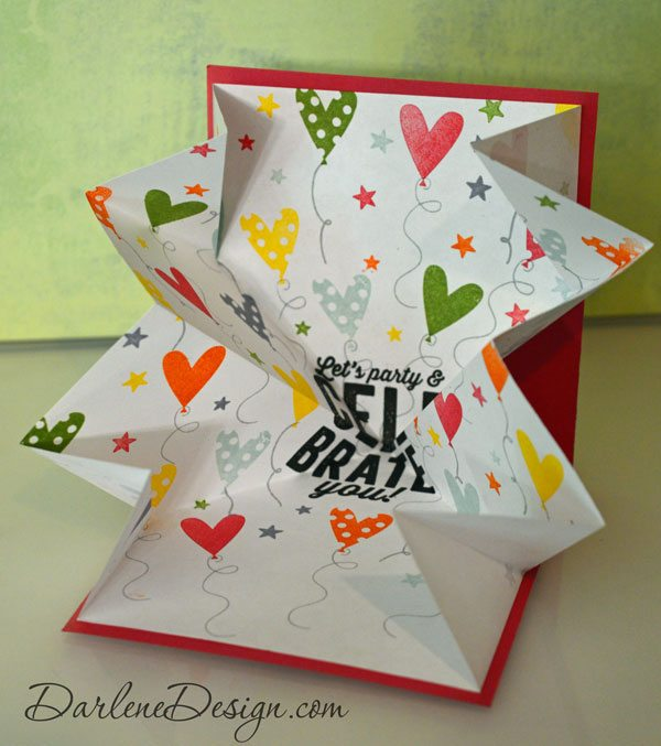 Folding Hacks - How to fold an Explosion Card from Darlene Design