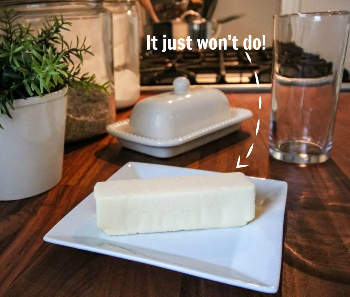 How to Soften Butter - Problem: cold, hard butter.