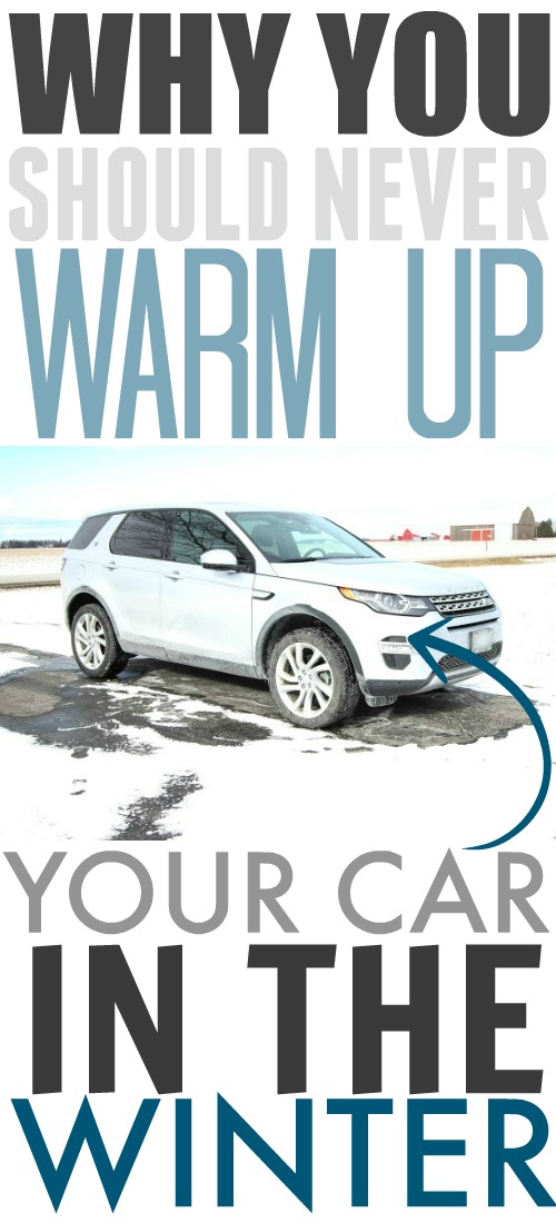 Why you should never warm up your car during the colder months! So glad I know this now!