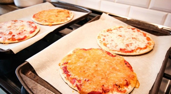 She made pizzas out of different kinds of cheese to get her kids to try new things! So smart!