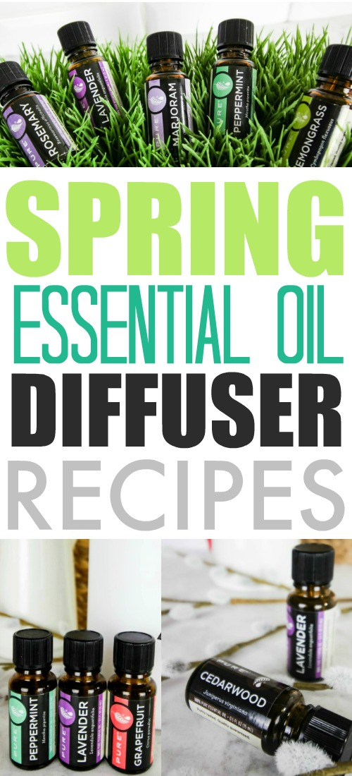 Essential oil recipes to try in your diffuser this spring!