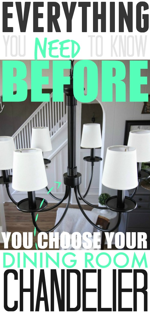 So many great little tips that I didn't know about before about choosing and installing a chandelier!