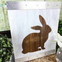 Rustic Easter Bunny Silhouette Sign