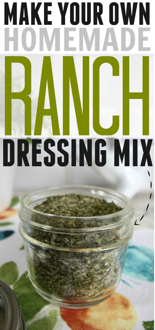 Make your own homemade ranch dressing mix using ingredients you already have in your pantry. Super convenient and economical, this mix is great to have on hand in your kitchen.