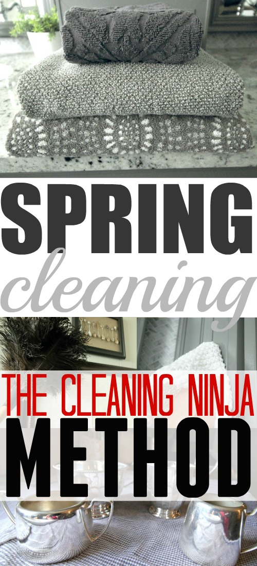 THIS is definitely how I want to do my Spring Cleaning from now on! The Cleaning Ninja method!