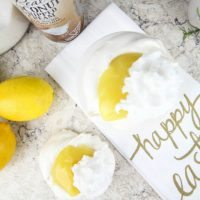 Coconut Lemon Meringues with Coconut Whipped Cream