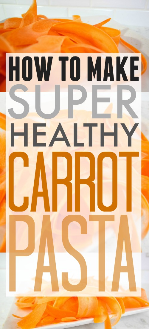 Carrot pasta trick! This is a must-try for anyone trying to eat healthier!