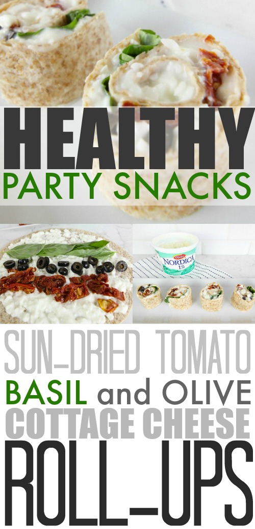 Easy and healthy party food idea! These roll-ups look delicious and I love that they use cottage cheese! #BornOnTheFarm #ad