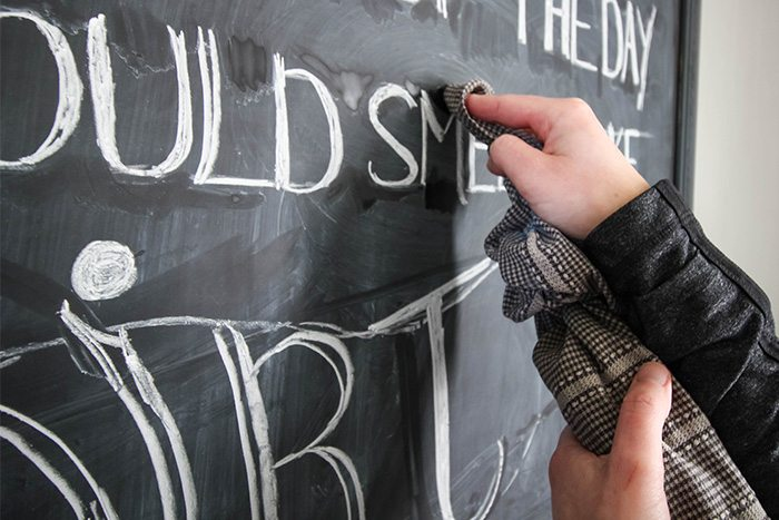 Anyone can learn to do beautiful chalkboard lettering! Follow these simple and you'll see it's easier than you think!