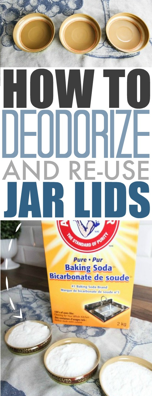 Saving jars to re-use is a great idea but the lids can carry smells from their original use. Here's the best way to clean mason jar lids and remove those odors for good.