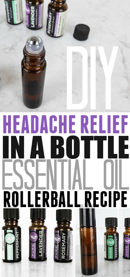 We all deal with nasty headaches from time to time and taking too many painkillers can be concerning.  Next time you're feeling pain, go natural and try this headache rollerball recipe made with essential oils, it works great for me.