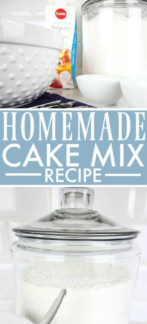 Try this homemade cake mix the next time you have a recipe that calls for a box of cake mix, or make multiple batches to have on hand for all your easy-peasy baking needs!