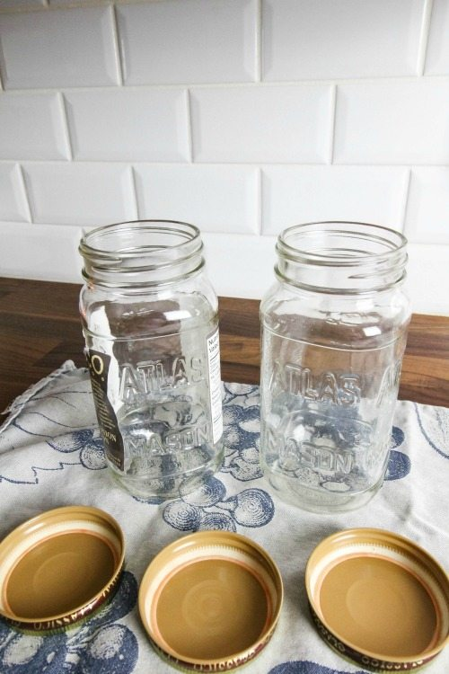 Saving jars to re-use is a great idea but the lids can carry smells from its original use.  Here's the best way to clean mason jar lids and remove old odors.