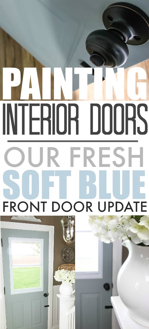 Updating the interior of our front door with a bit of a brighter paint color!