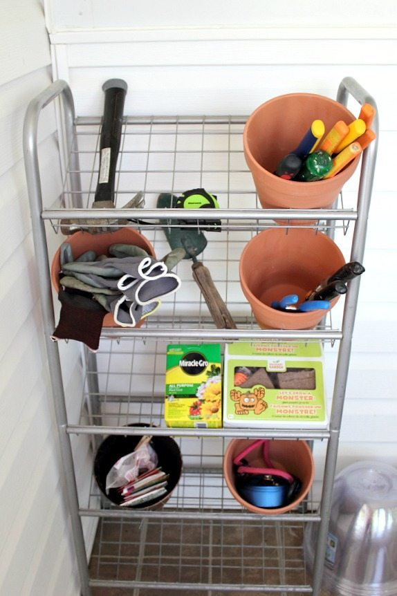 Use an Old Shoe Rack as a Garden Tool Stand