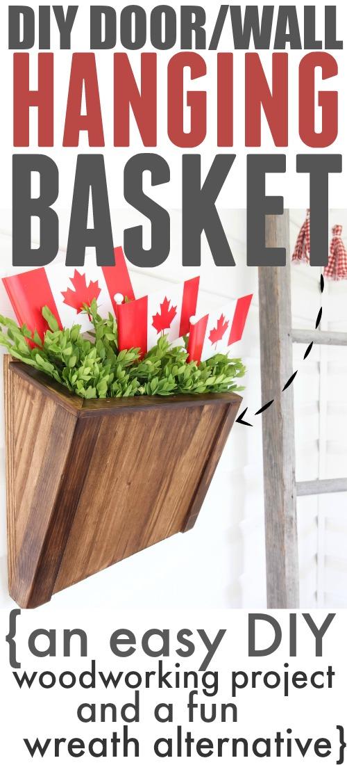 DIY Door Hanger Basket instead of a wreath! Love this idea!