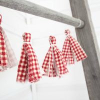How to Make a Fabric Tassel Garland