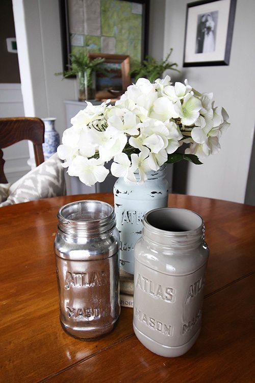 Painted Jars On Display