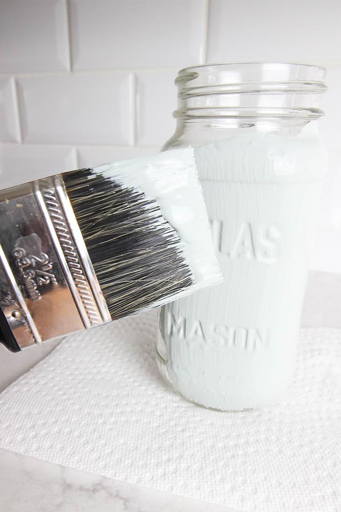 How to Paint Mason Jars! Brush Technique