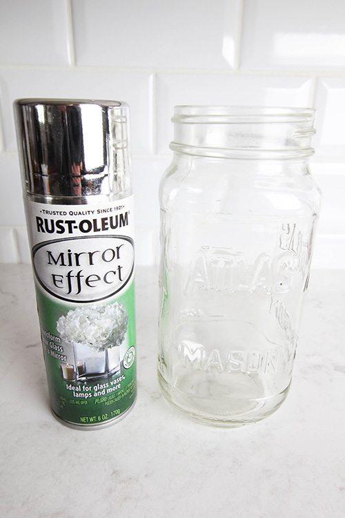 How to Paint Mason Jars! Mercury Glass Technique