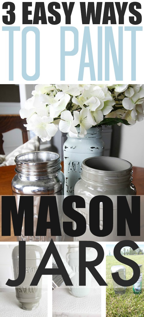How to paint mason jars! Such a quick and inexpensive home decor project!
