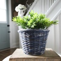 Updating Thrift Store Baskets to Use Around the Home