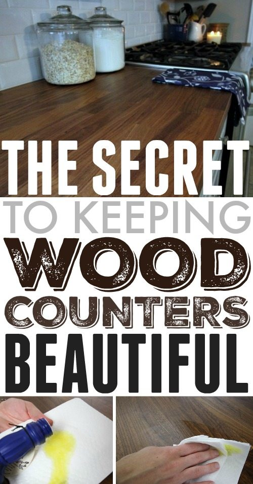 Are your wood counters looking old and dingy?  Take better care of wood counters with this amazing tip and have them looking beautiful again.