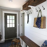 Our New Back Hall Mud Room Area