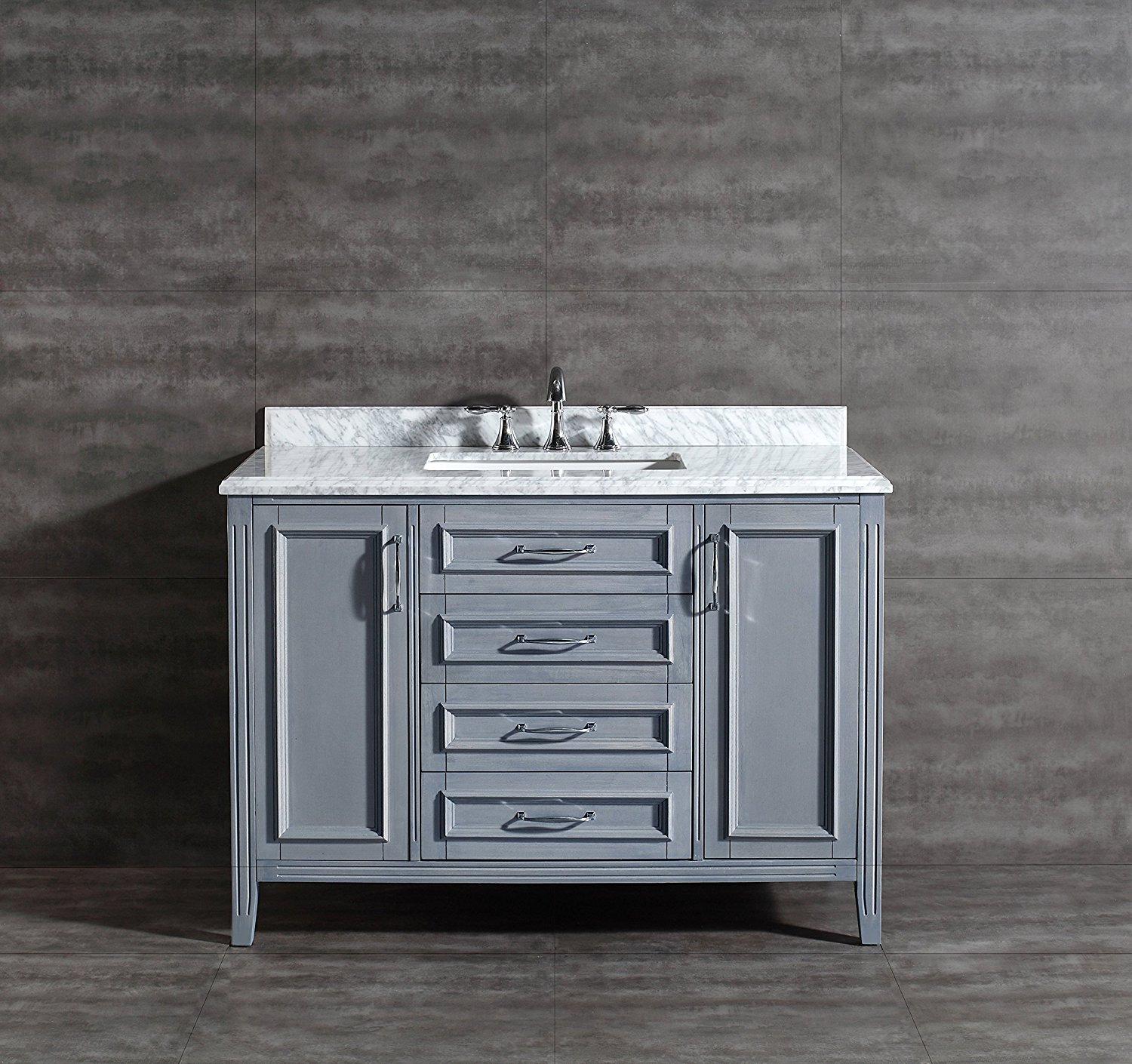 Grey And White Marble Bathroom: Stunning Grey Bathroom Vanity Options