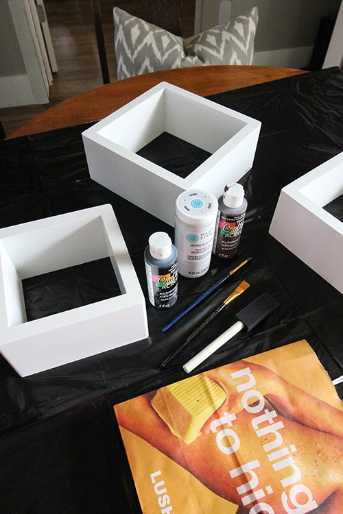 How to paint smooth melamine to look like rustic, reclaimed wood!
