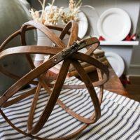 DIY Embroidery Hoop Decor Orbs
