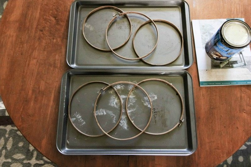 You can make your own decor orbs for a fraction of the price by using embroidery hoops! Here's how!