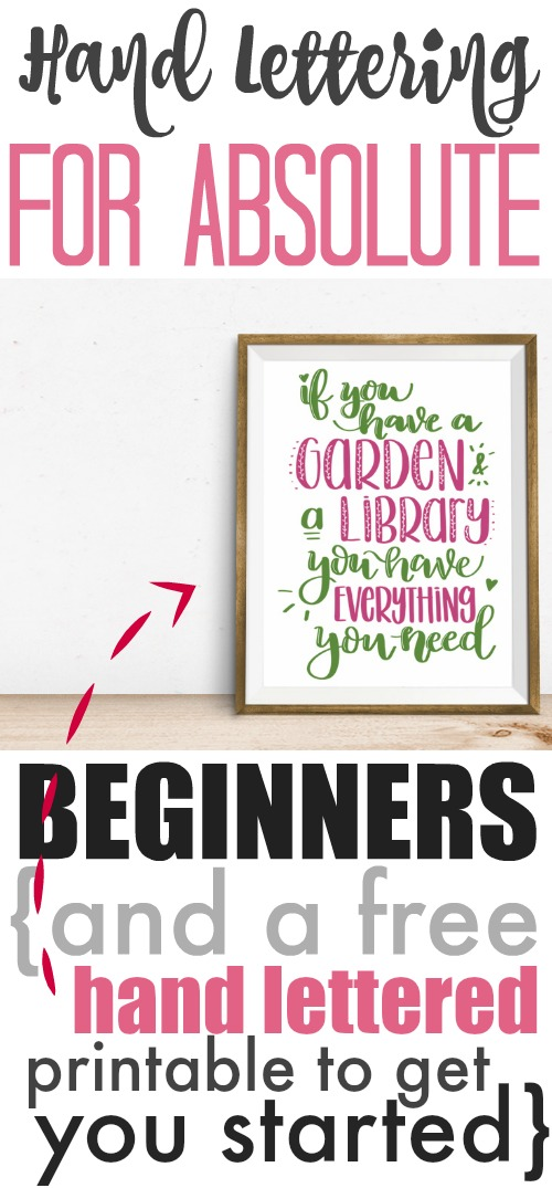 How to get started learning hand lettering if you're an absolute beginner!