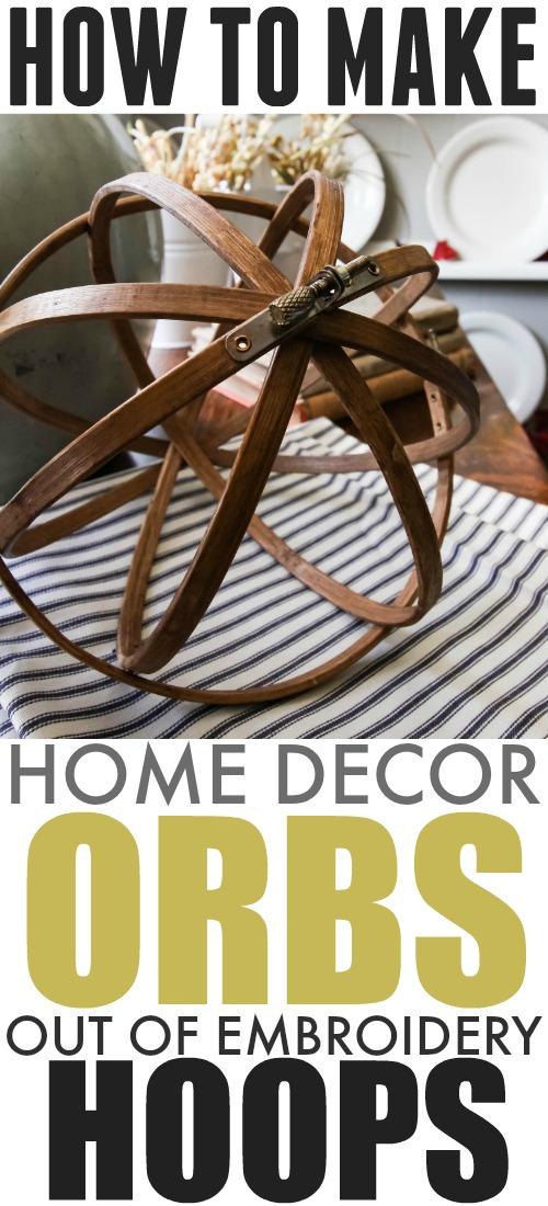 Diy Embroidery Hoop Decor Orbs The Creek Line Houserhcreeklinehouse: Home Decor Orbs At Home Improvement Advice