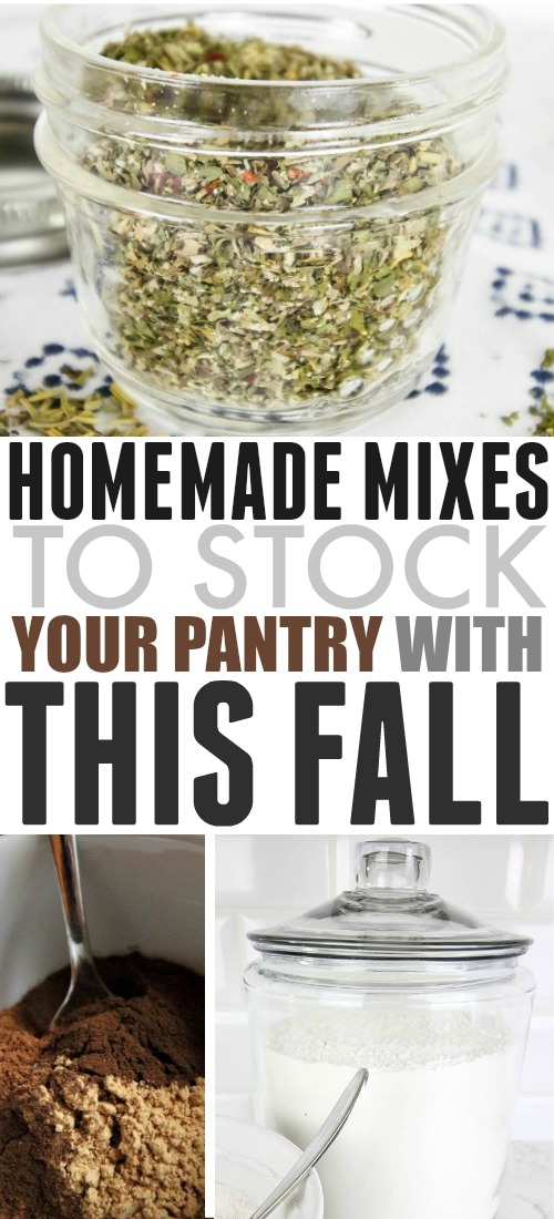 Prepare your panty for fall - these homemade mixes that you can make-ahead and use up when you're ready for them are about as easy as it gets!