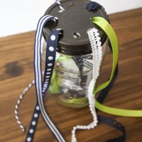 DIY Mason Jar Ribbon Organizer