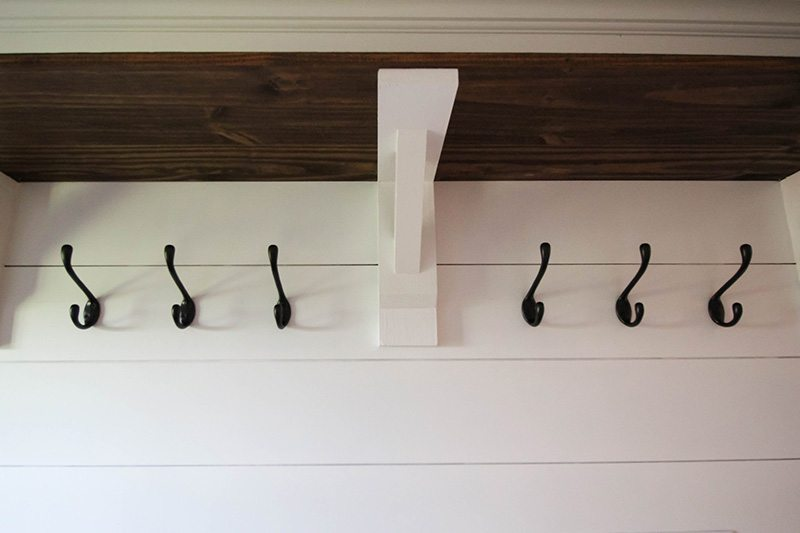 The trick to hanging your hooks in a perfectly straight row!