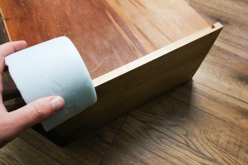 How to fix a stubborn, sticky dresser drawer with this easy trick!